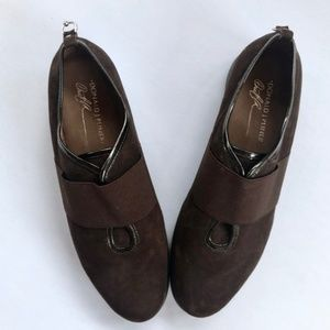 DONALD J PLINER Jasper Stretch Slip On Suede Shoes
